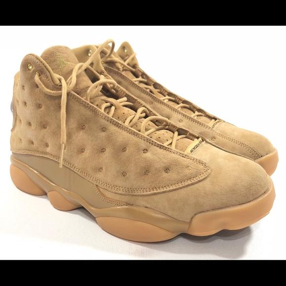 c3f182990894d7 Nike Mens Air Jordan 13 Retro Wheat Element Gold